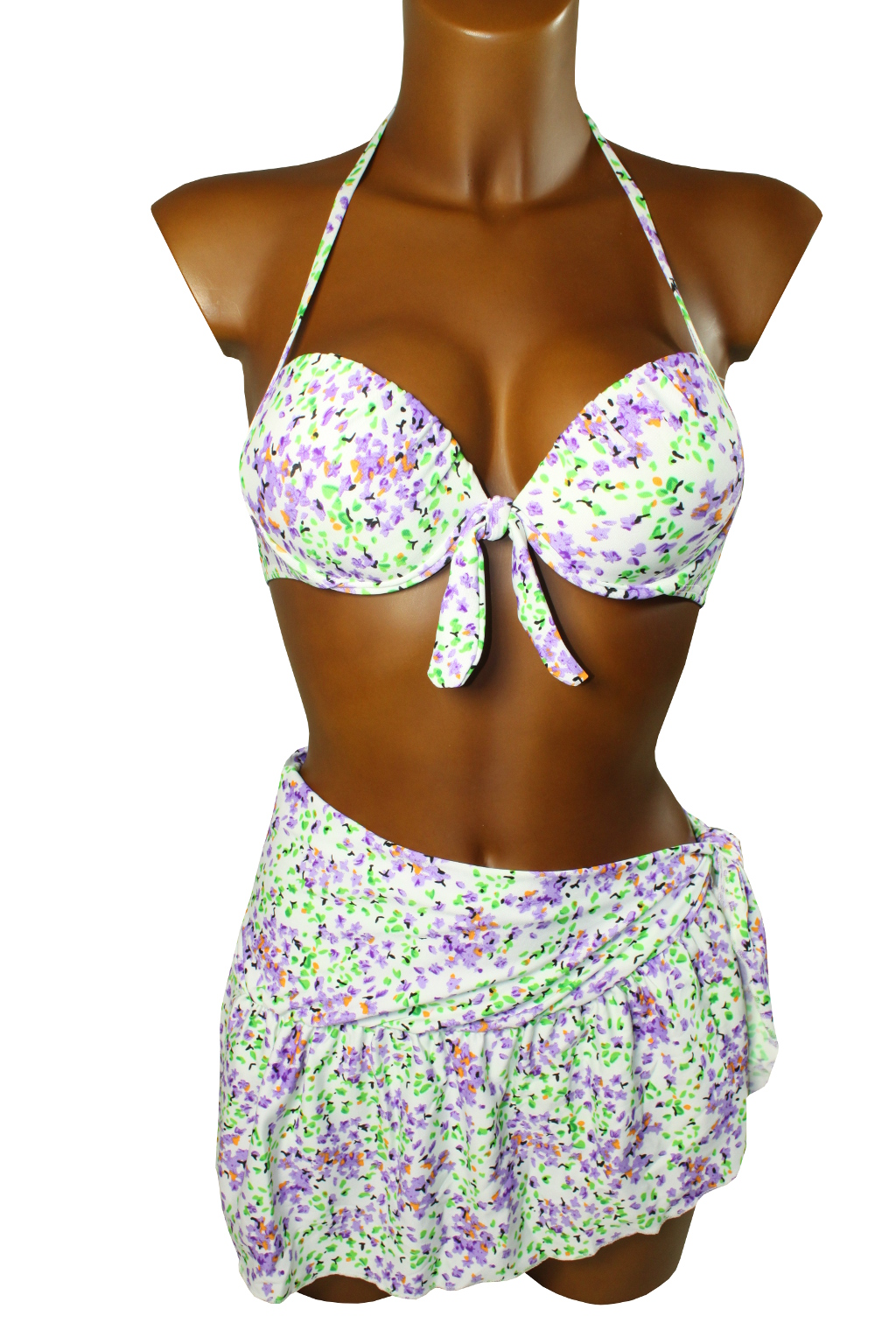 Spring plavky se sukénkou - výprodej L zelená
