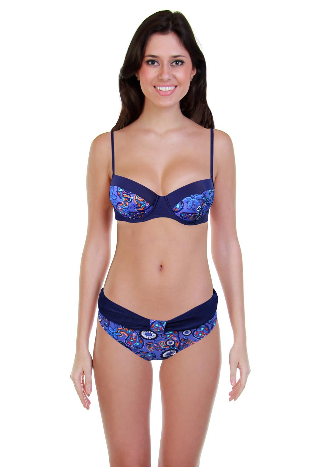 Malaga plavky dvojdílné - výprodej M tmavě modrá