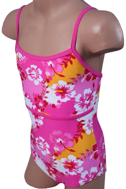 Emička dívčí plavky 3-4 roky růžová