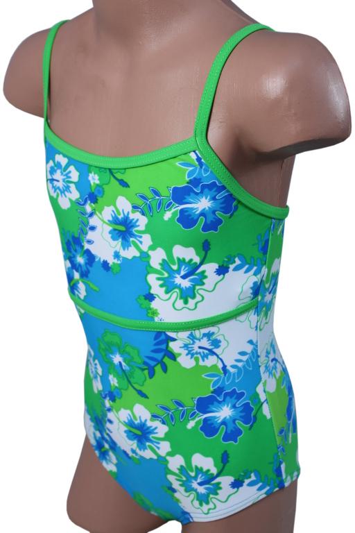 Emička dívčí plavky 5-6 let zelená