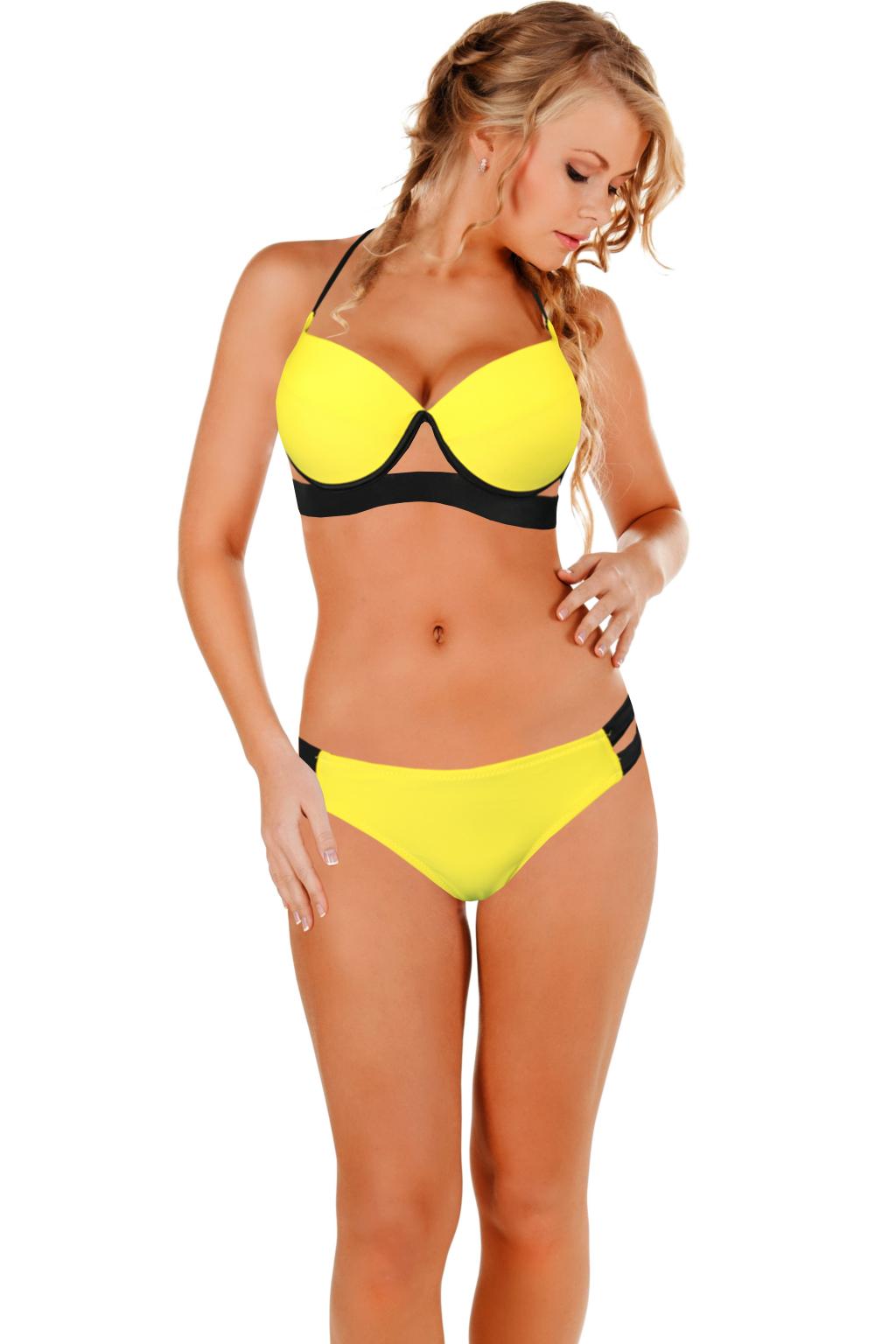 Viktoria dámské plavky 2016 M žlutá