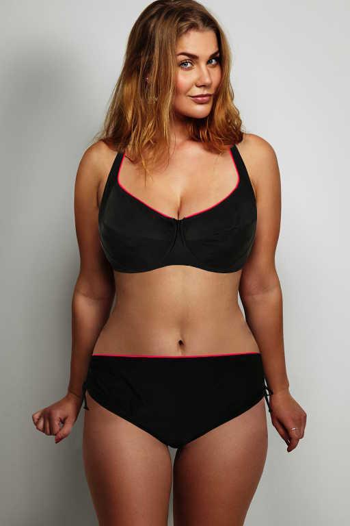 Mariana Lady dvojdílné plavky s kosticí L černá