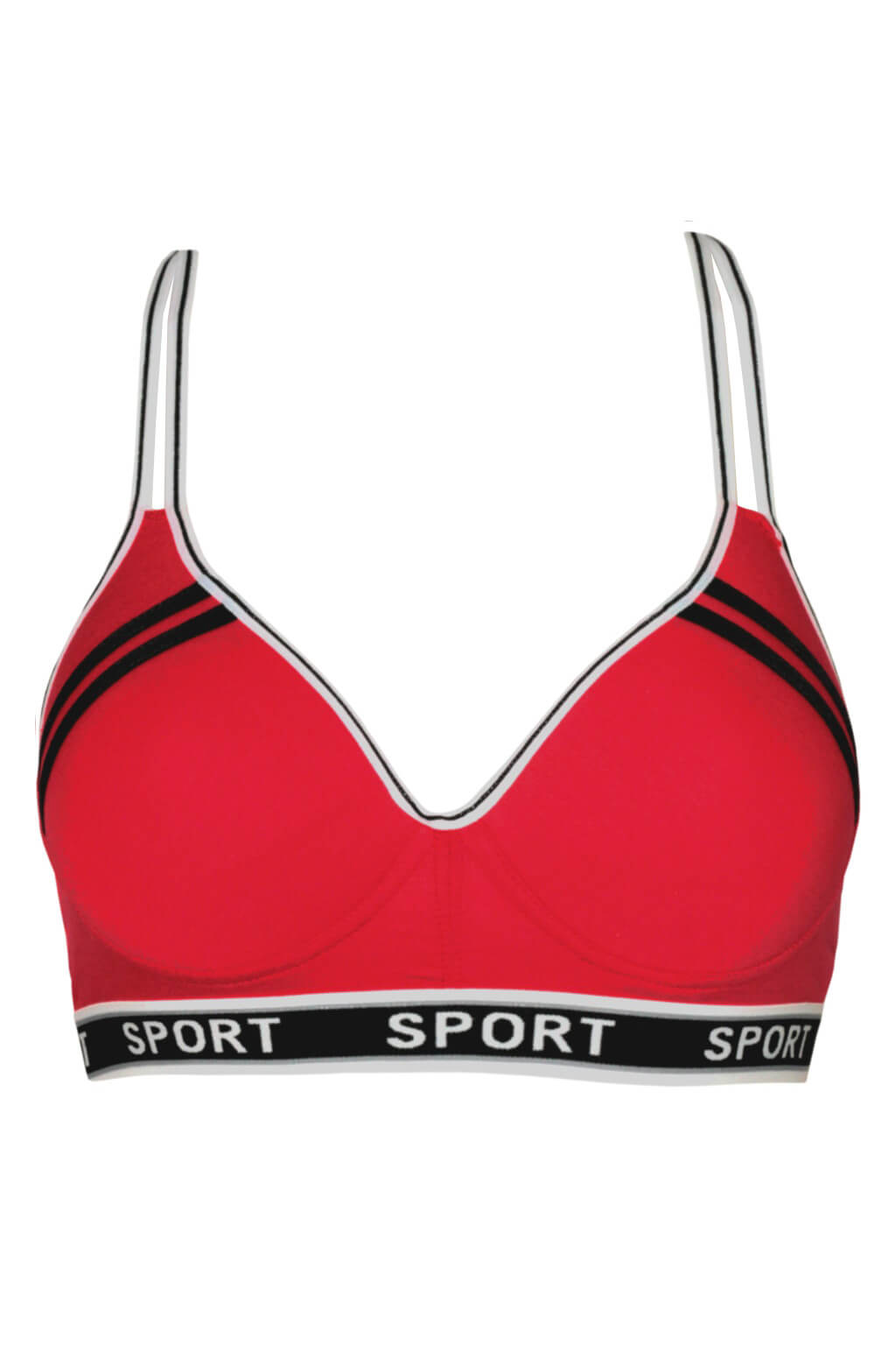 Mon Cheri Sport podprsenka s krajkou 75B červená
