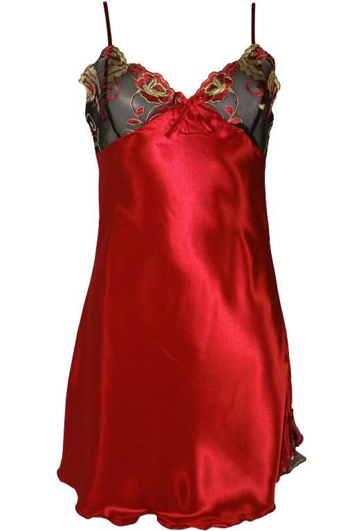 Edinna Red saténová košilka XL červená