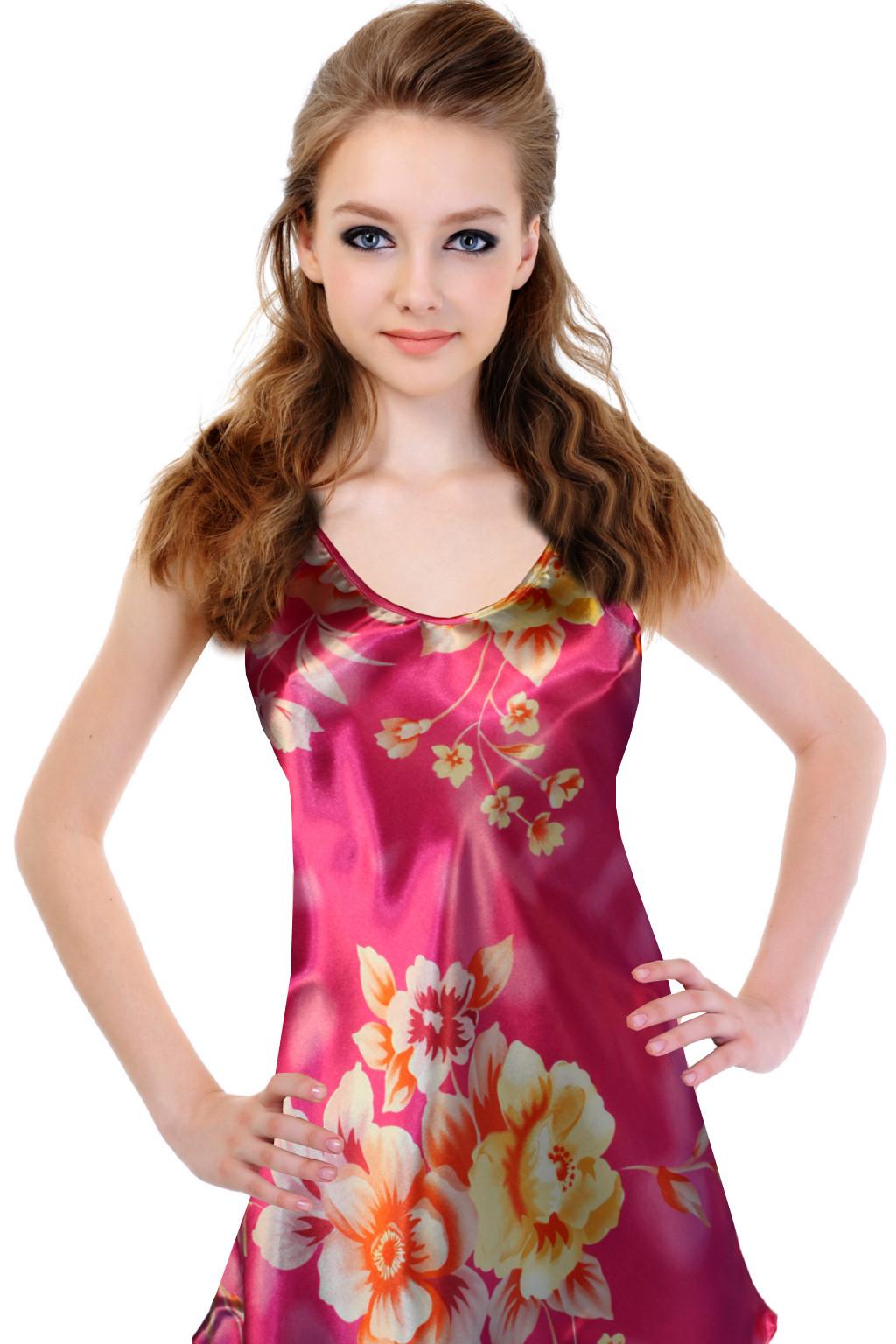 Frances saténová košilka XL růžová