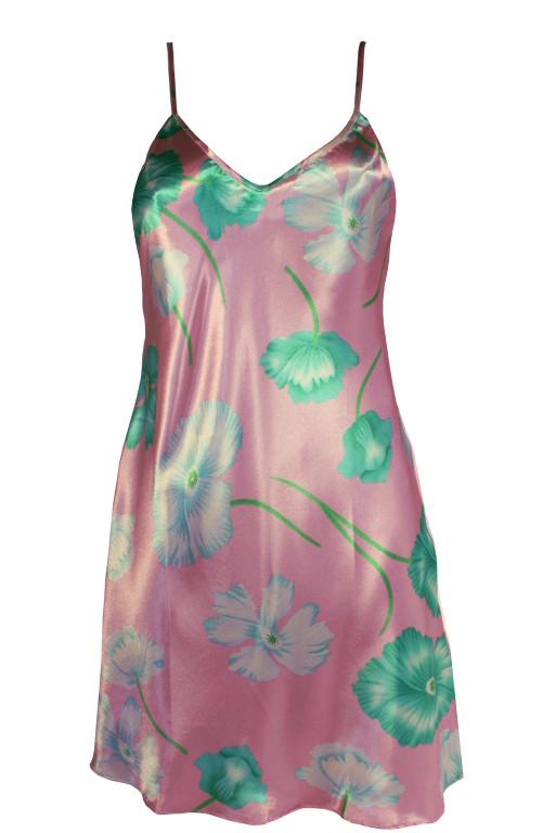 Tea Donte saténová košilka XL světle růžová