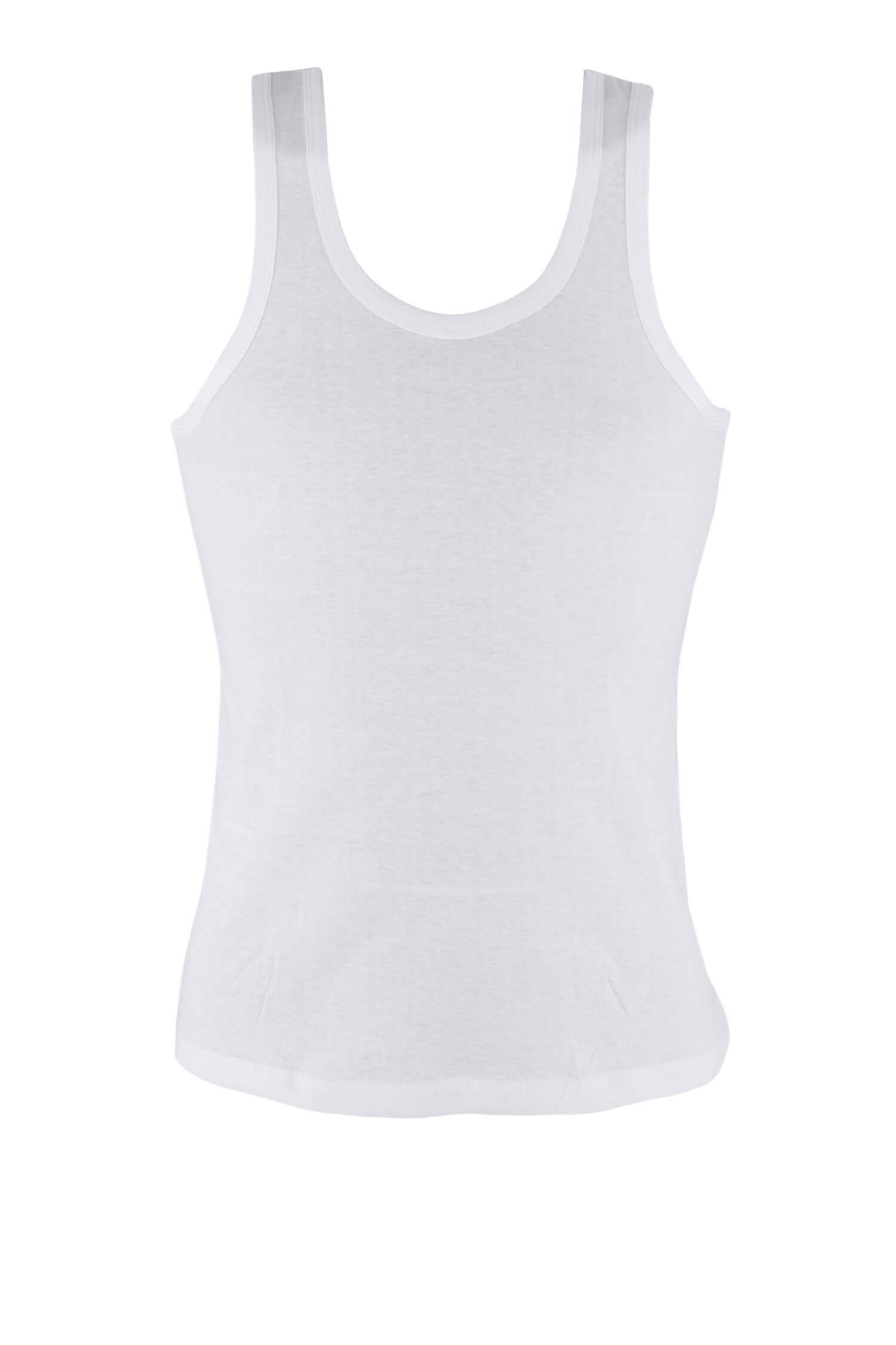 Yily White pánské tílko hladké bavlna 4XL bílá