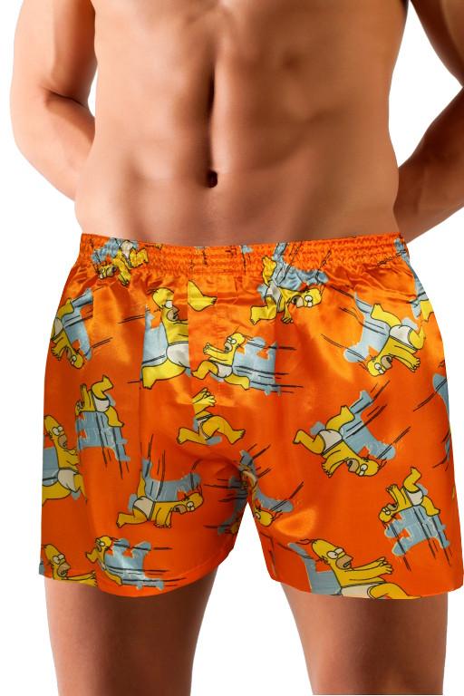 Homer Simpson saténové trenýrky L oranžová