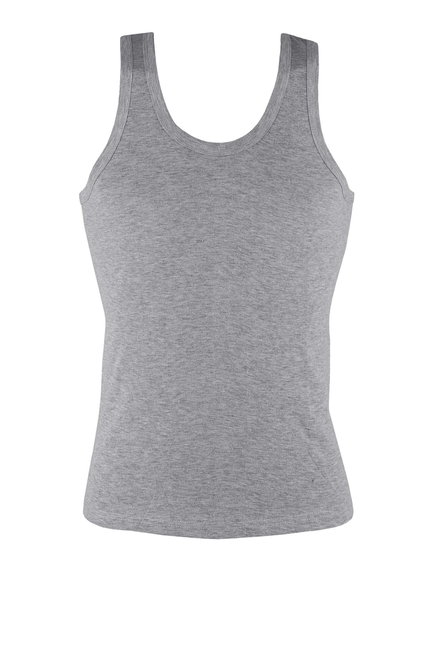 Yily Grey pánské tílko hladké bavlna 4XL šedá