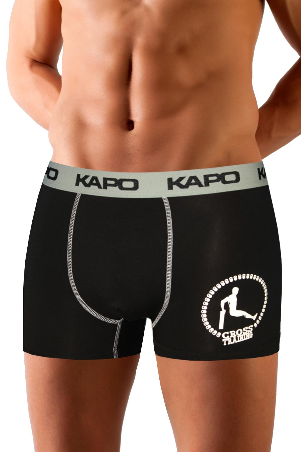 CrossTraining KAPO bambus boxerky XL šedá