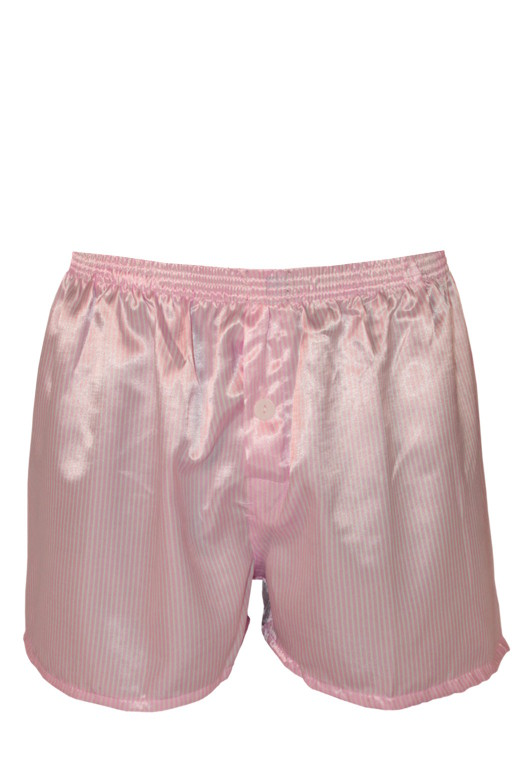Saténové růžové trenky XL světle růžová