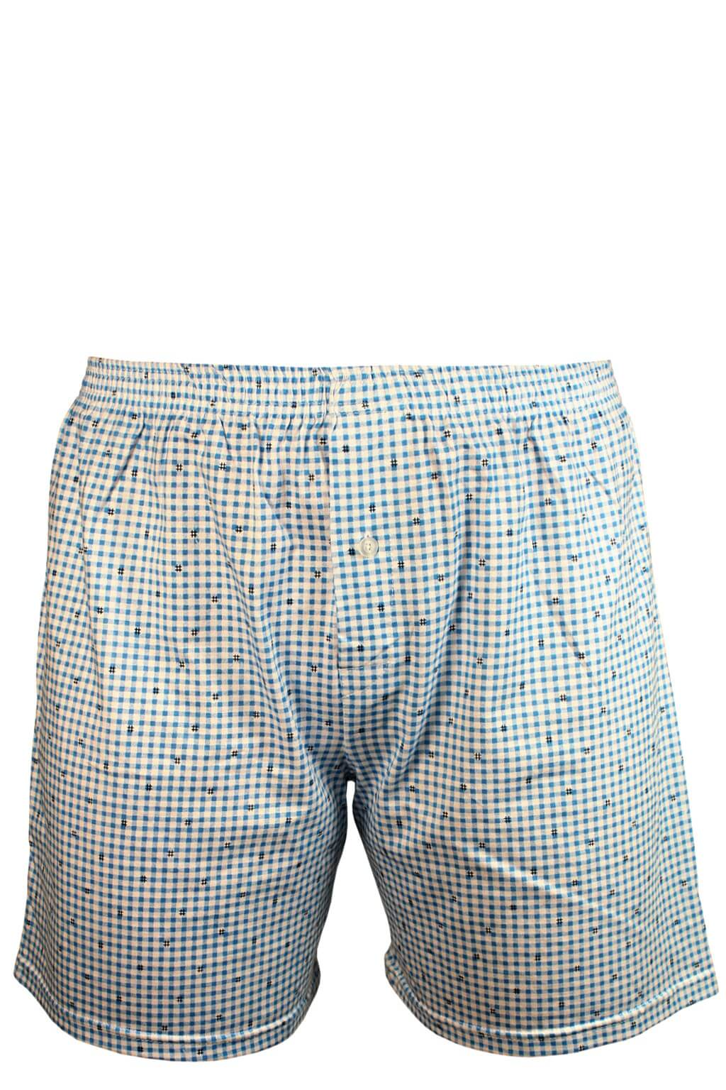 b87eafe27d1 Harry bavlna trenky - delší nohavička 3XL modrá