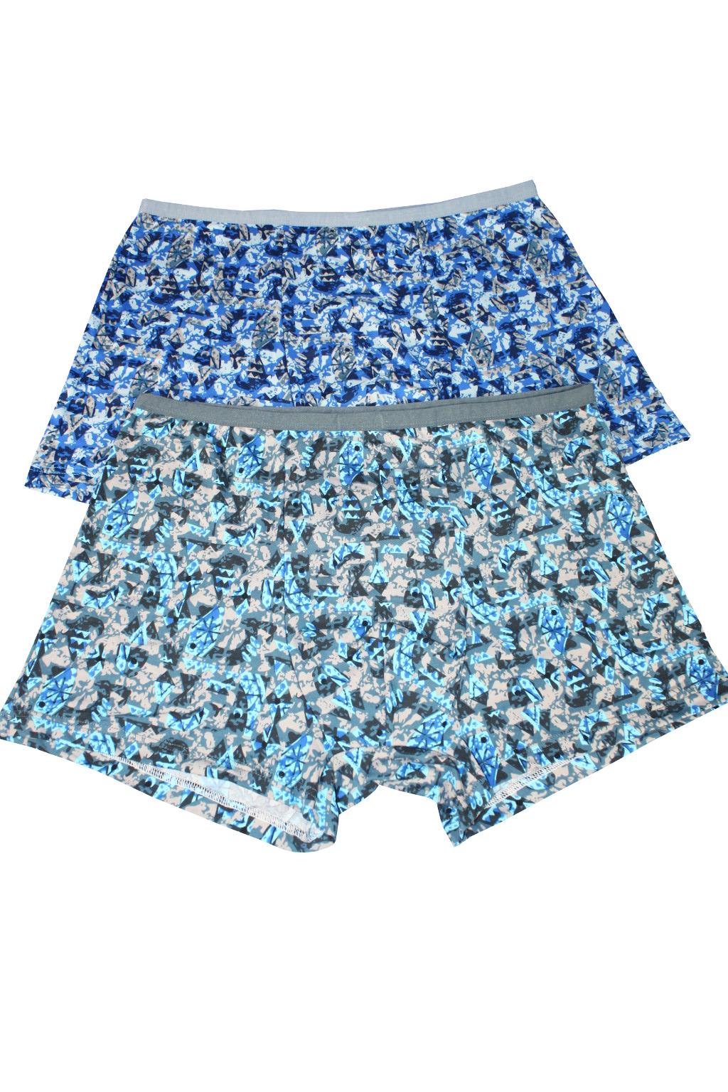 Scoty boxerky prádlo z bambusu 2ks 4XL modrá