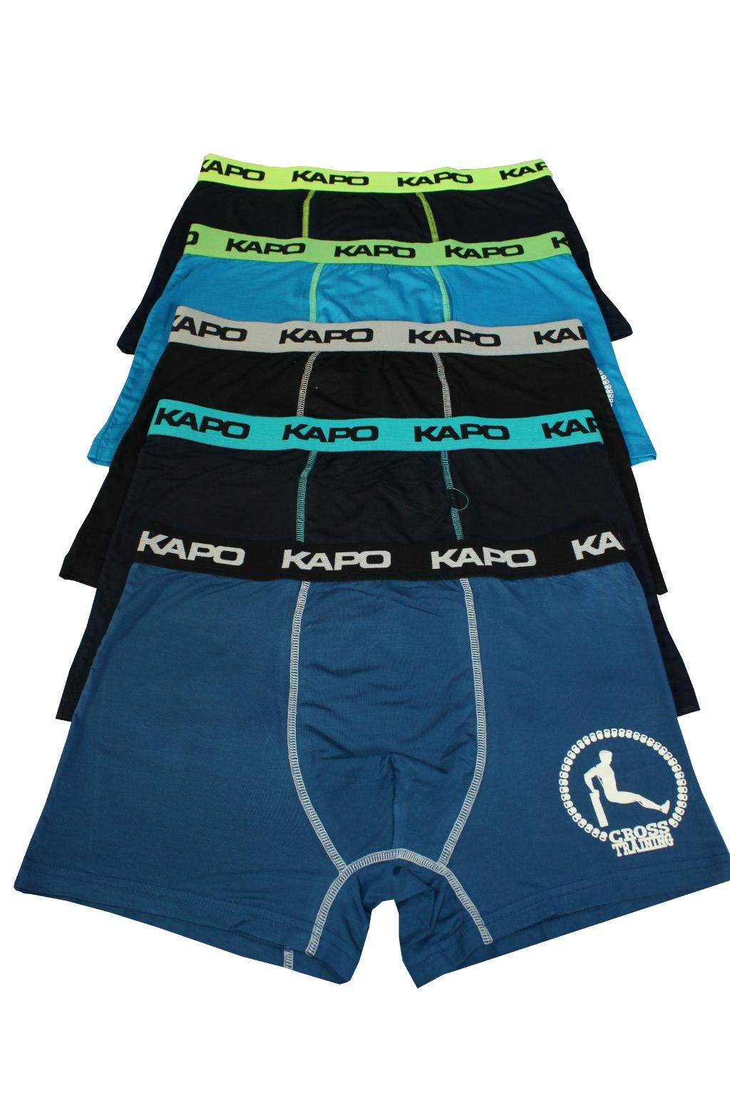 CrossTraining KAPO bambus boxerky 5ks XXL MIX