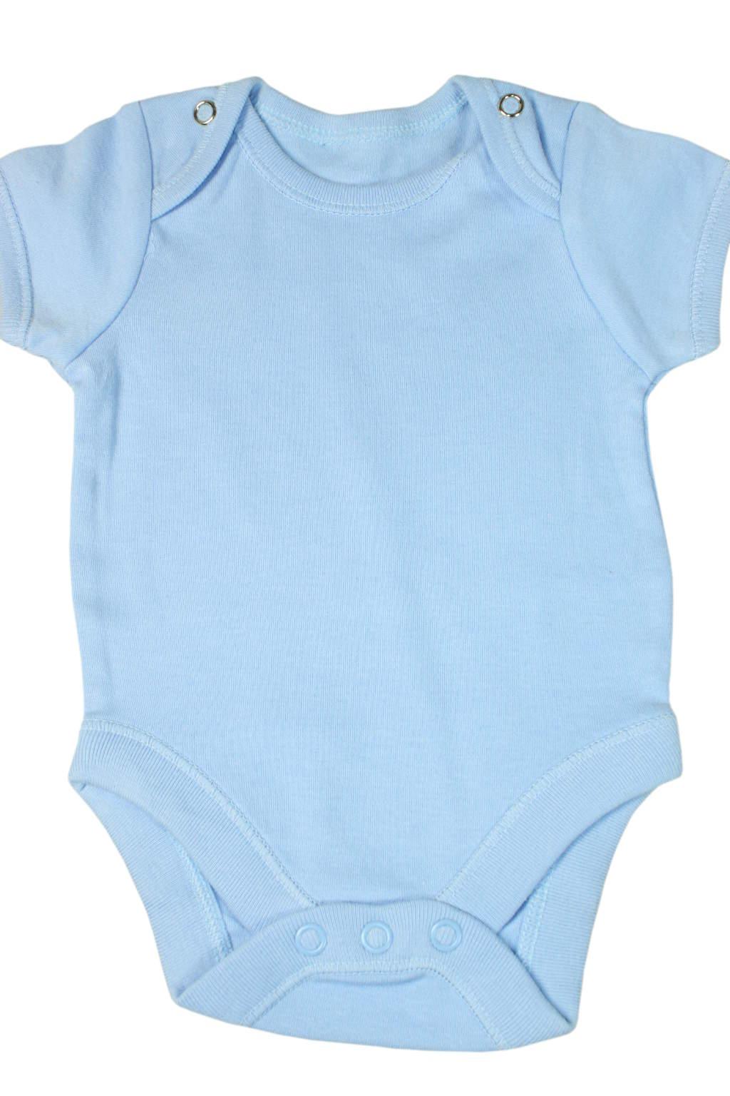 Davino dětské body 0-3 měs modrá
