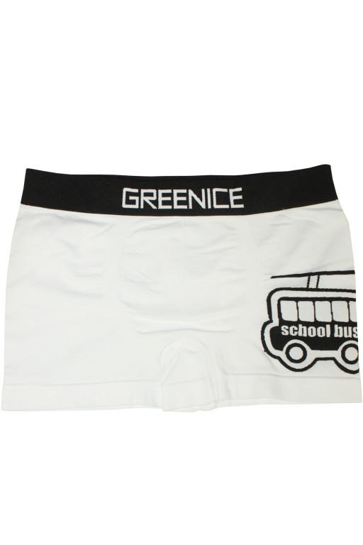 Greenice Bus - boxerky 7-8 let bílá