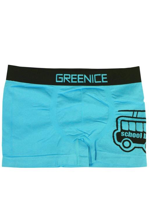Greenice Bus - boxerky 7-8 let světle modrá