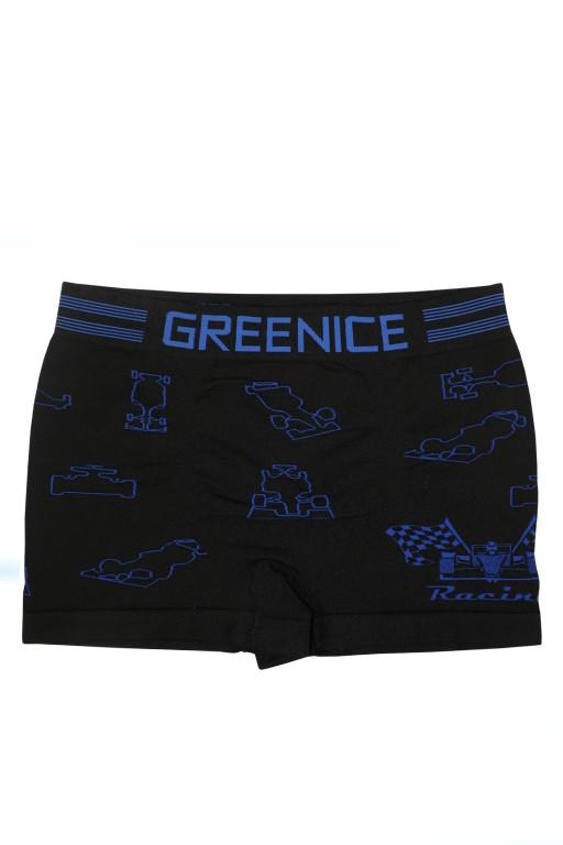 Greenice Bus - boxerky 7-8 let tmavě modrá