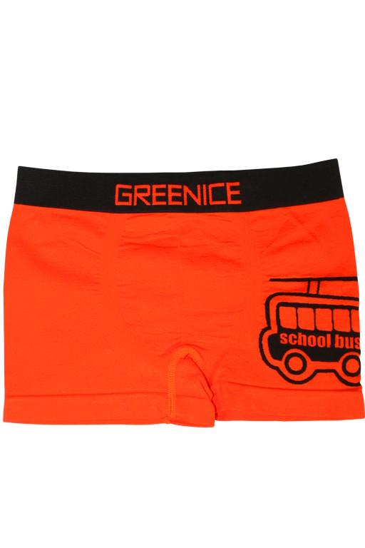 Greenice Bus - boxerky 7-8 let oranžová zářivá