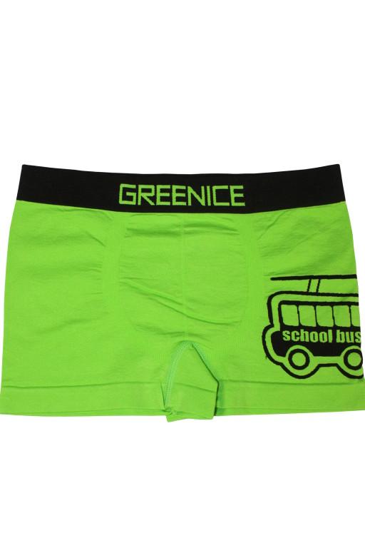 Greenice Bus - boxerky 5-6 let zelená