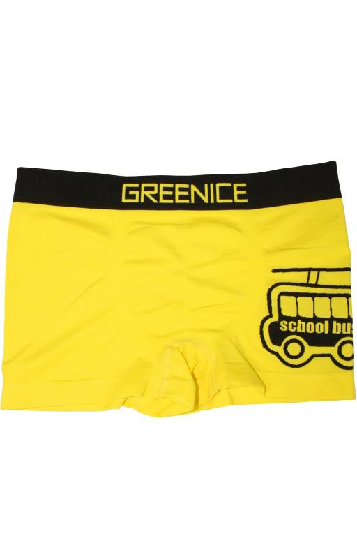 Greenice Bus - boxerky 5-6 let žlutá