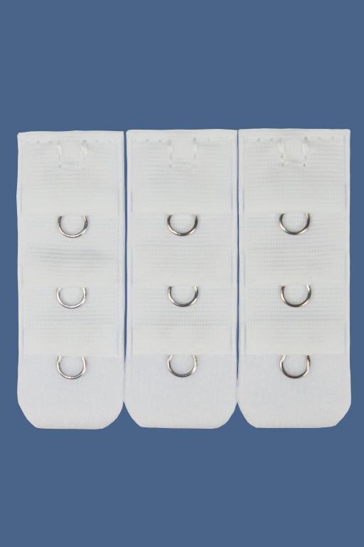 Jednoháčkové prodloužení k podprsence 3ks bílá