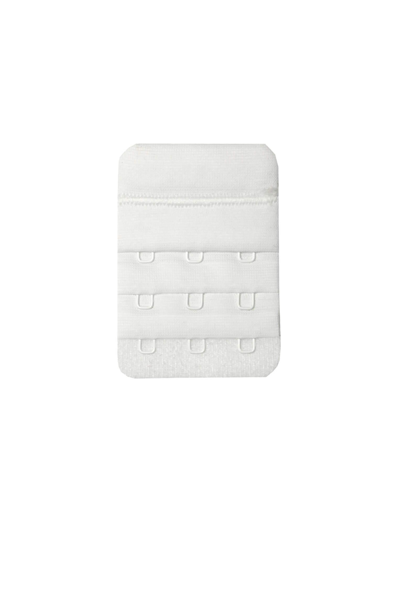 Látkové prodloužení k podprsence na 3 háčky bílá