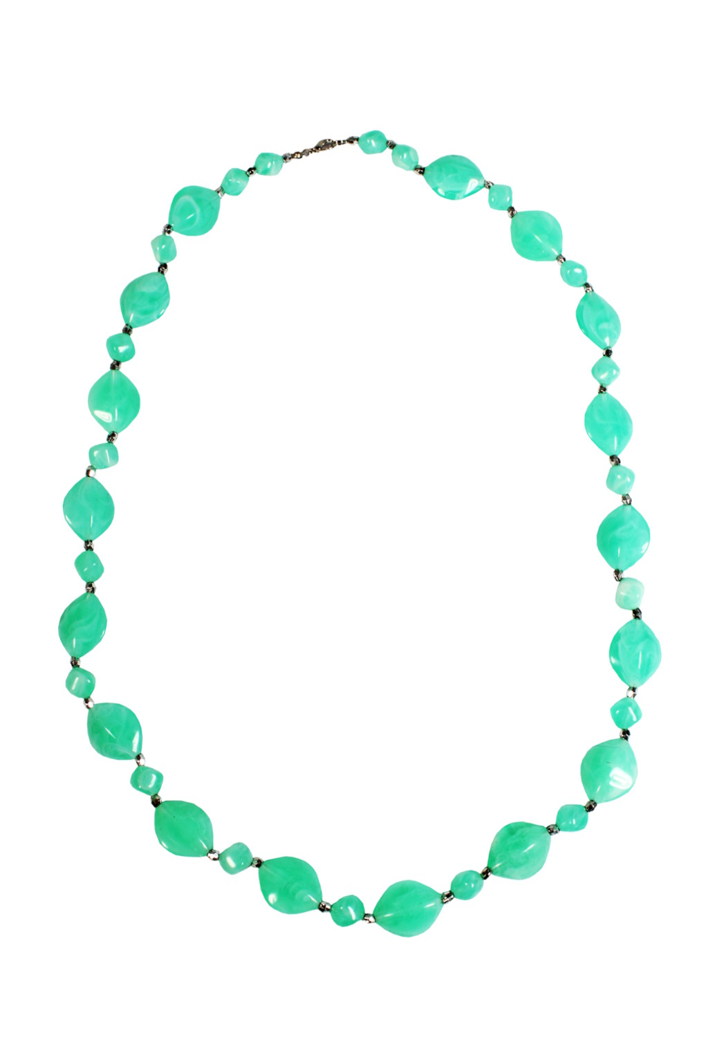 Letní korále z imitace kamenů světle zelená