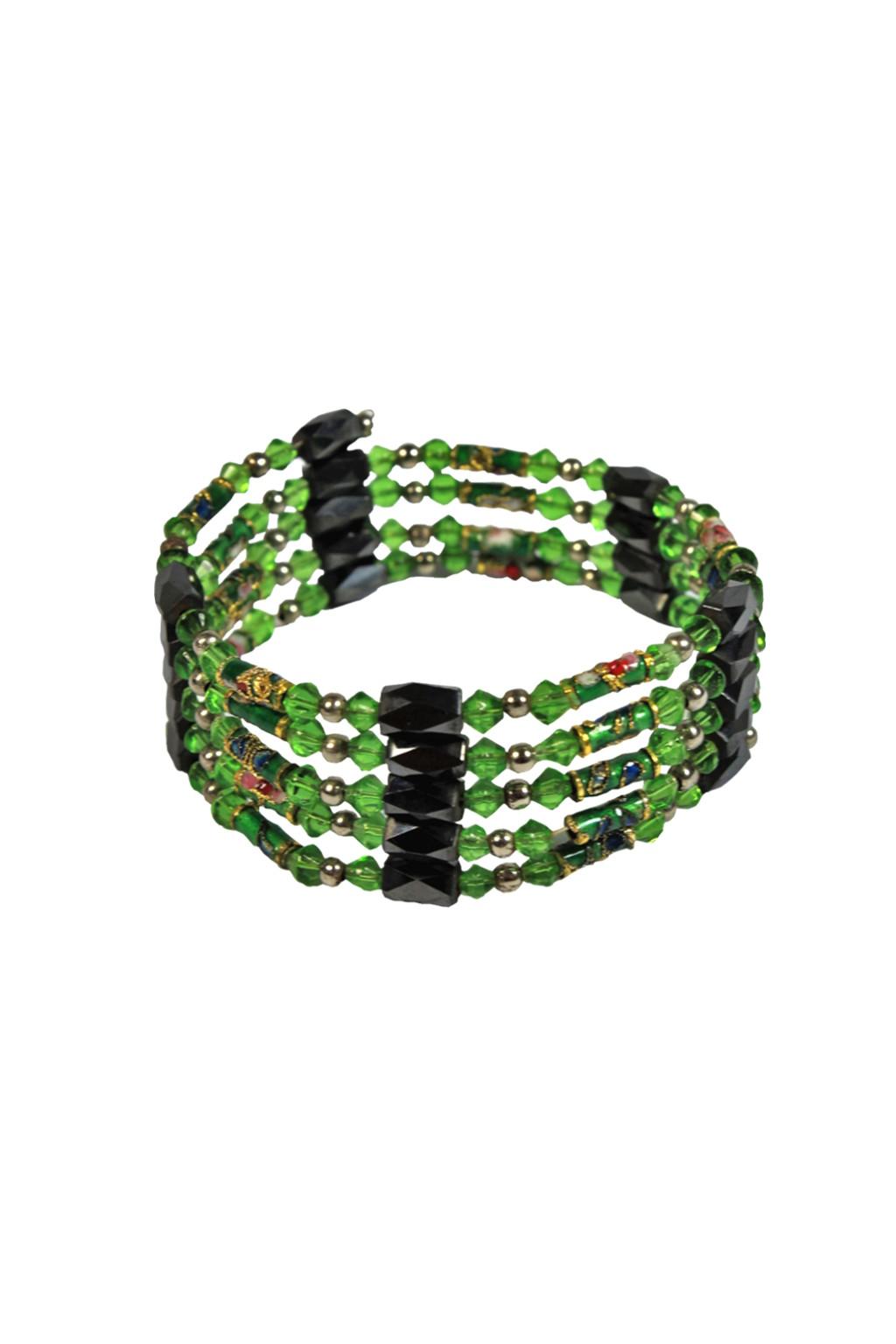 Náramek s magnetickými kamínky zelená