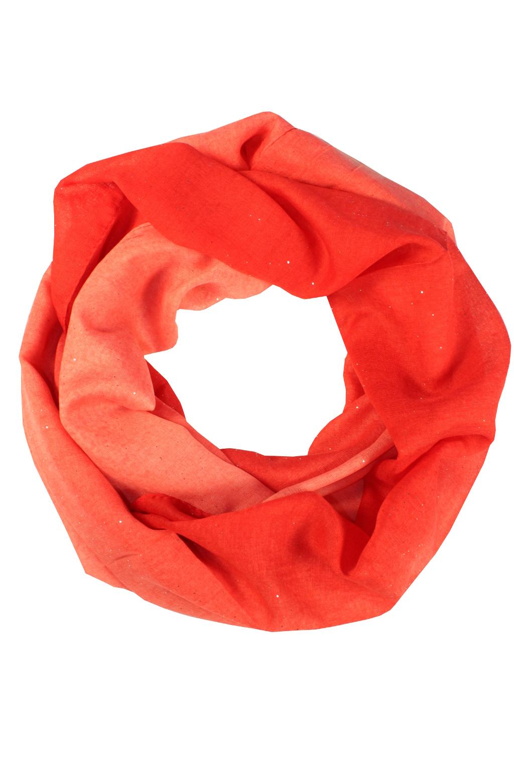 26d0b394d8d Perla - letní tunelová šála červená