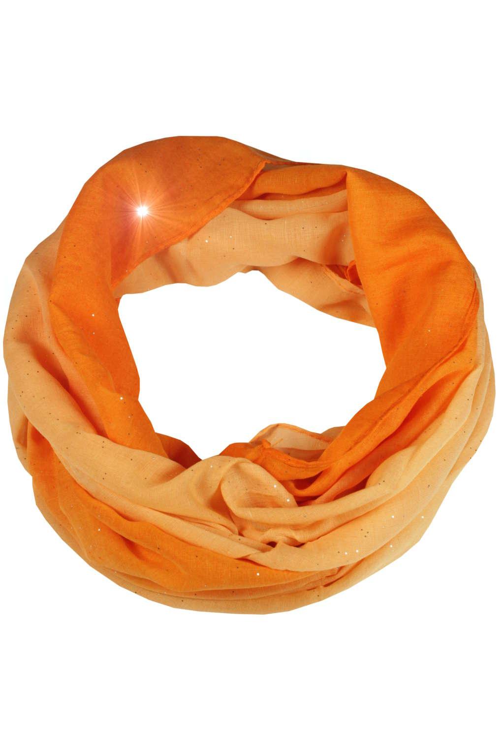 c3923b27d3a Perla - letní tunelová šála oranžová