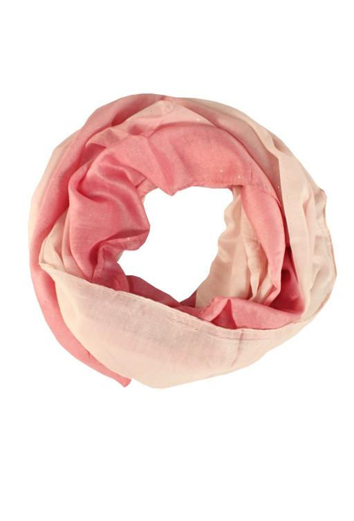 Perla - letní tunelový šátek růžová
