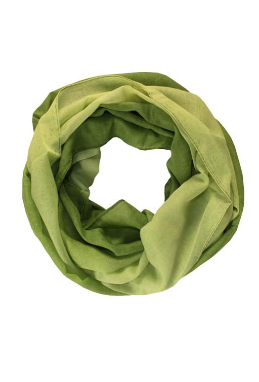 Perla - letní tunelový šátek zelená