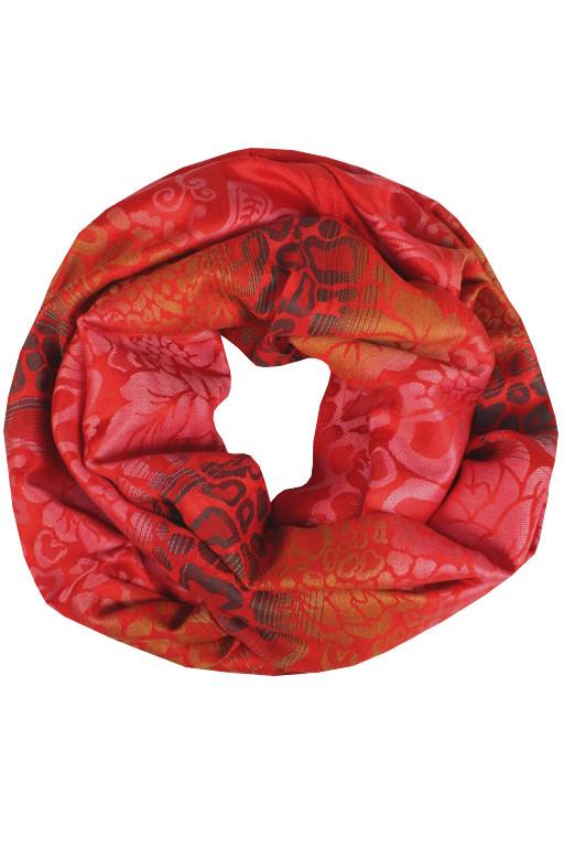 Ankara kroucená šála červená