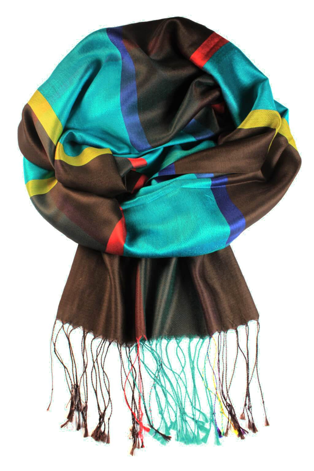 Amalfi luxusní hedvábný šál světle modrá 102b357b5c