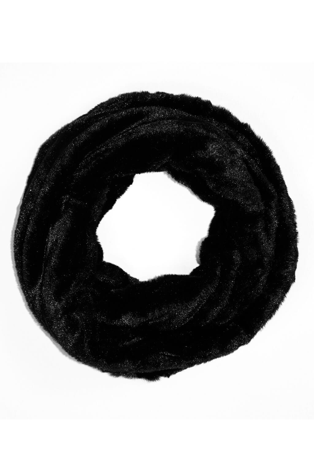 Caine tunelová kožešinová šála černá