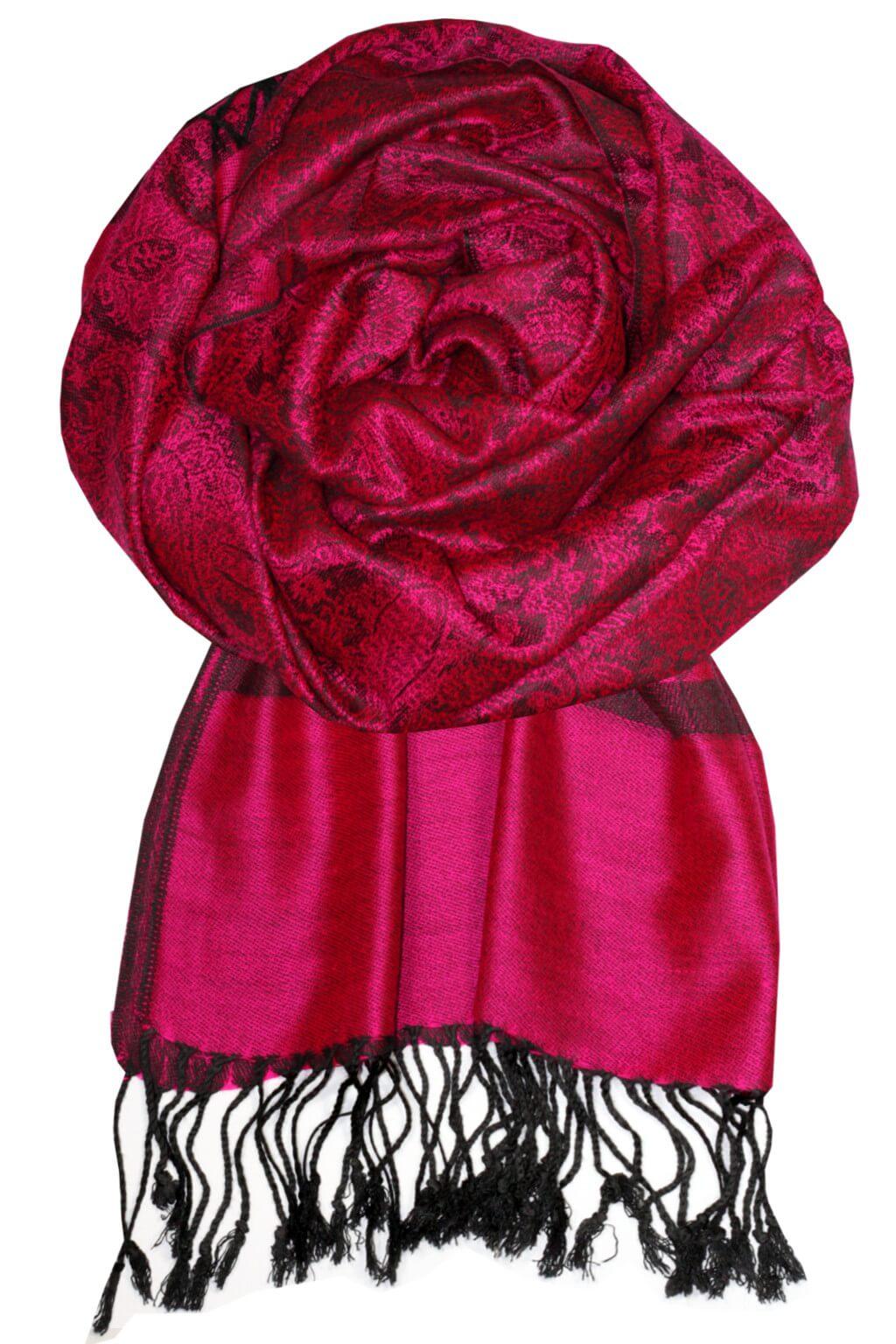 Roma luxusní šála - pašmína tmavě růžová b4e58437b6