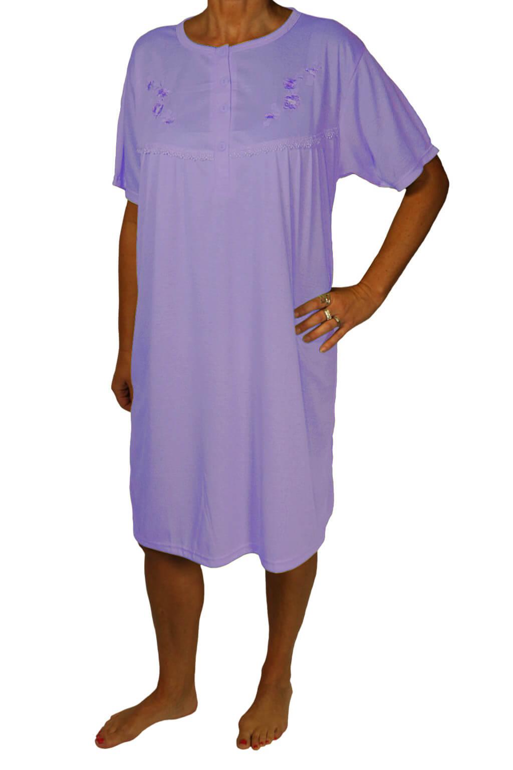 Jeronima dámská noční košile s výšivkou fialová L