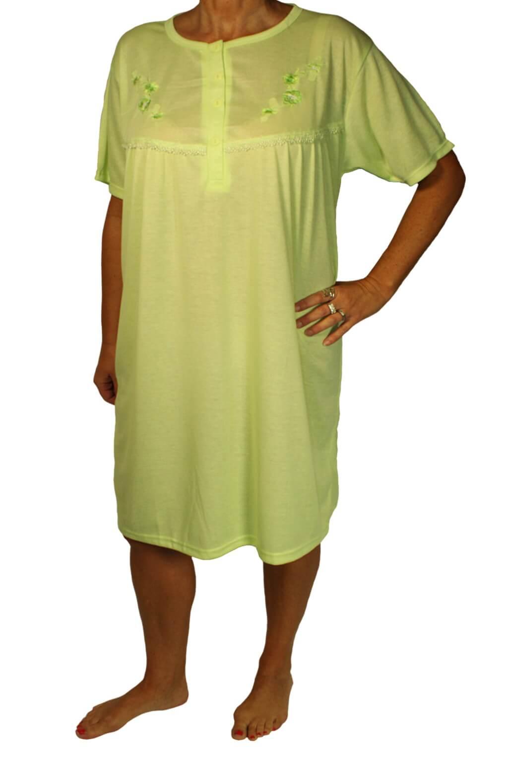 Jeronima dámská noční košile s výšivkou světle zelená L
