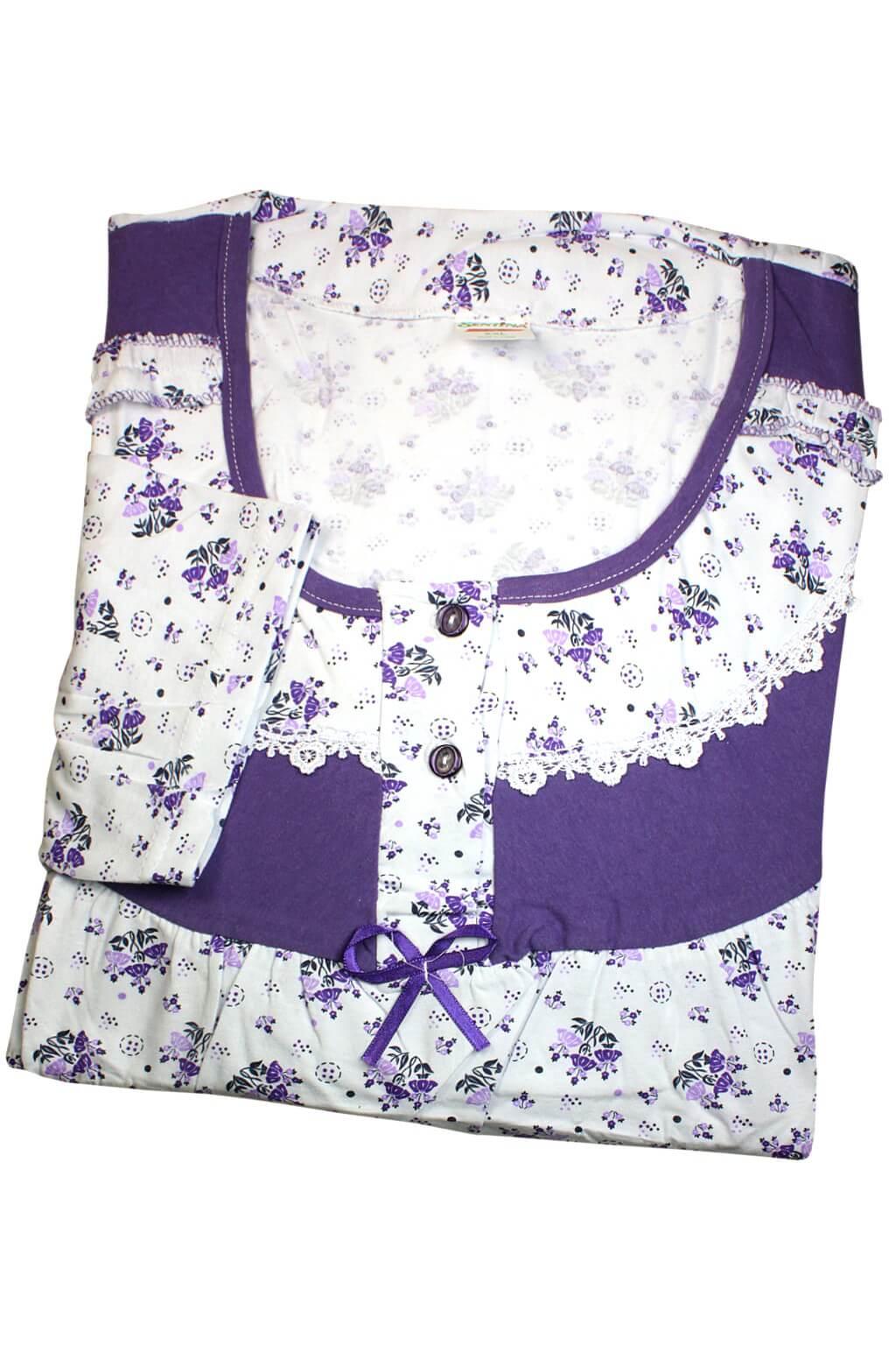 Wellora dámská noční košile XXL XXL fialová