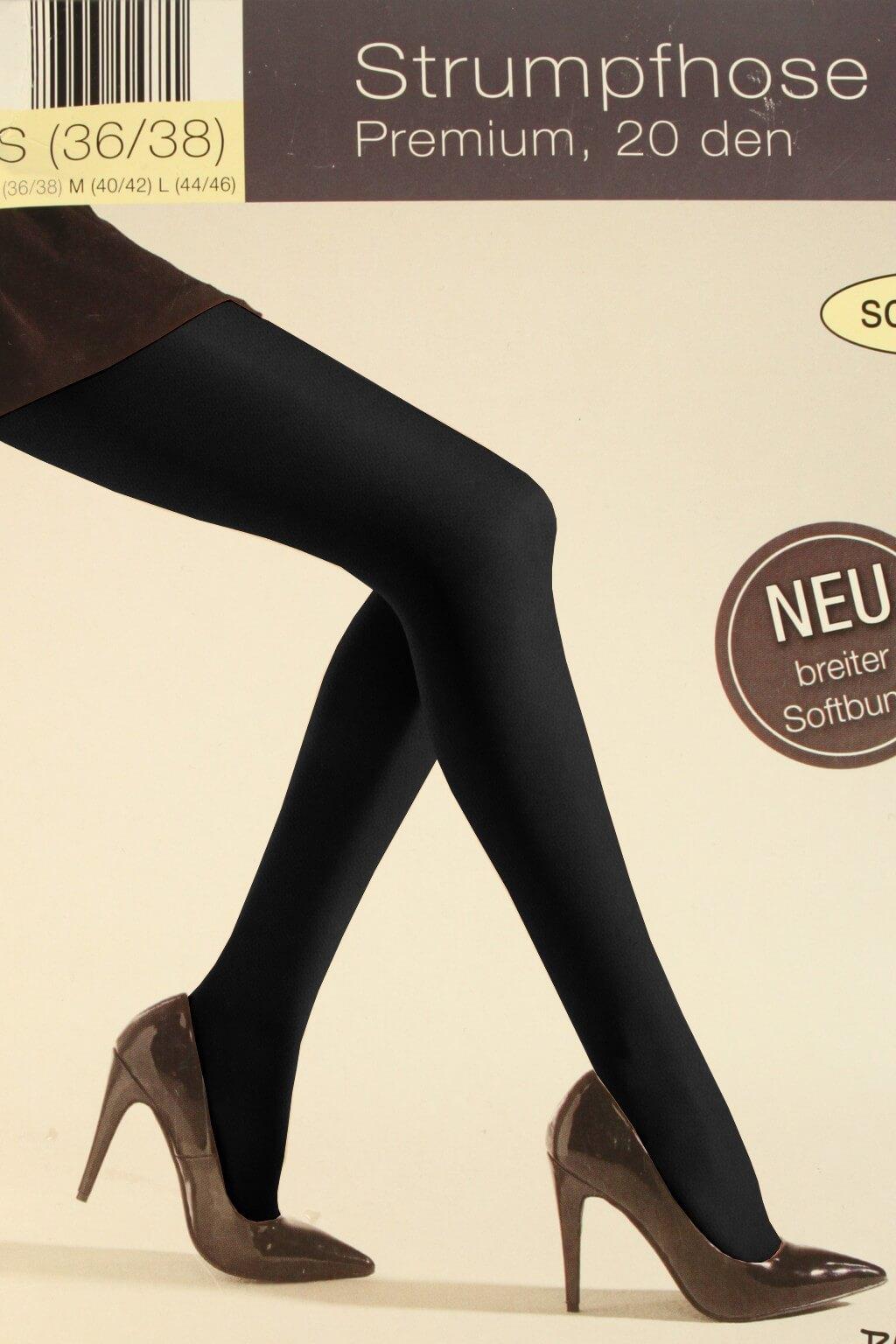 Dámské punčochové kalhoty 20 DEN L černá