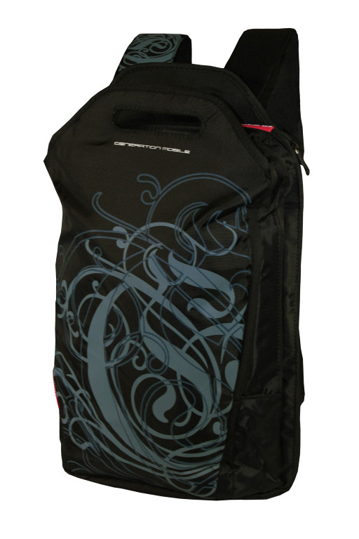 Business batoh s kapsou na notebook černá