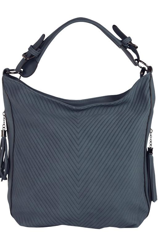 Damion módní dámská kabelka šedomodrá