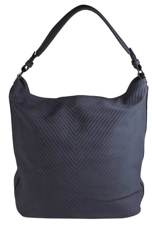 Lona dámská kabelka typu vak šedomodrá