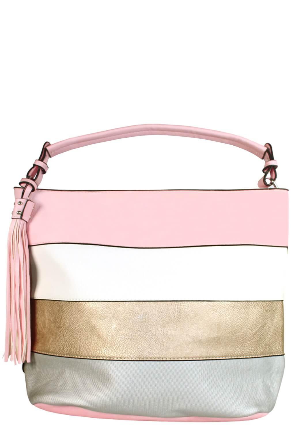 Ciera Pink módní vak kabelka světle růžová