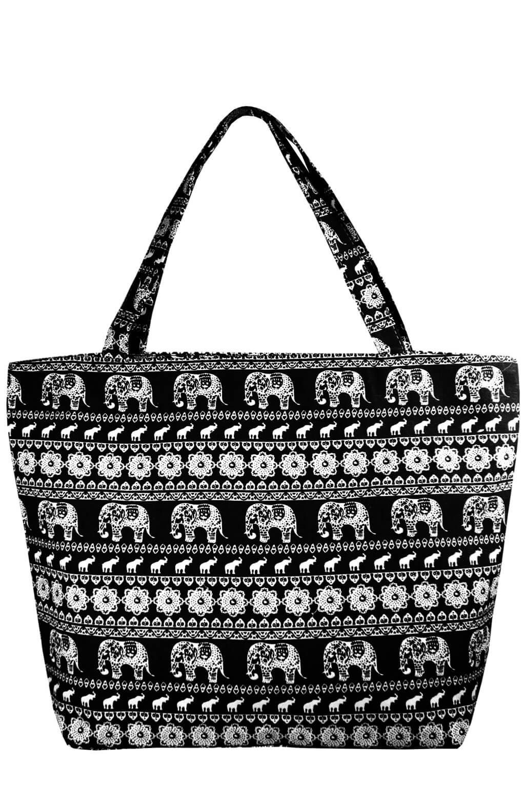 Mahari letní taška s indickým motivem černá