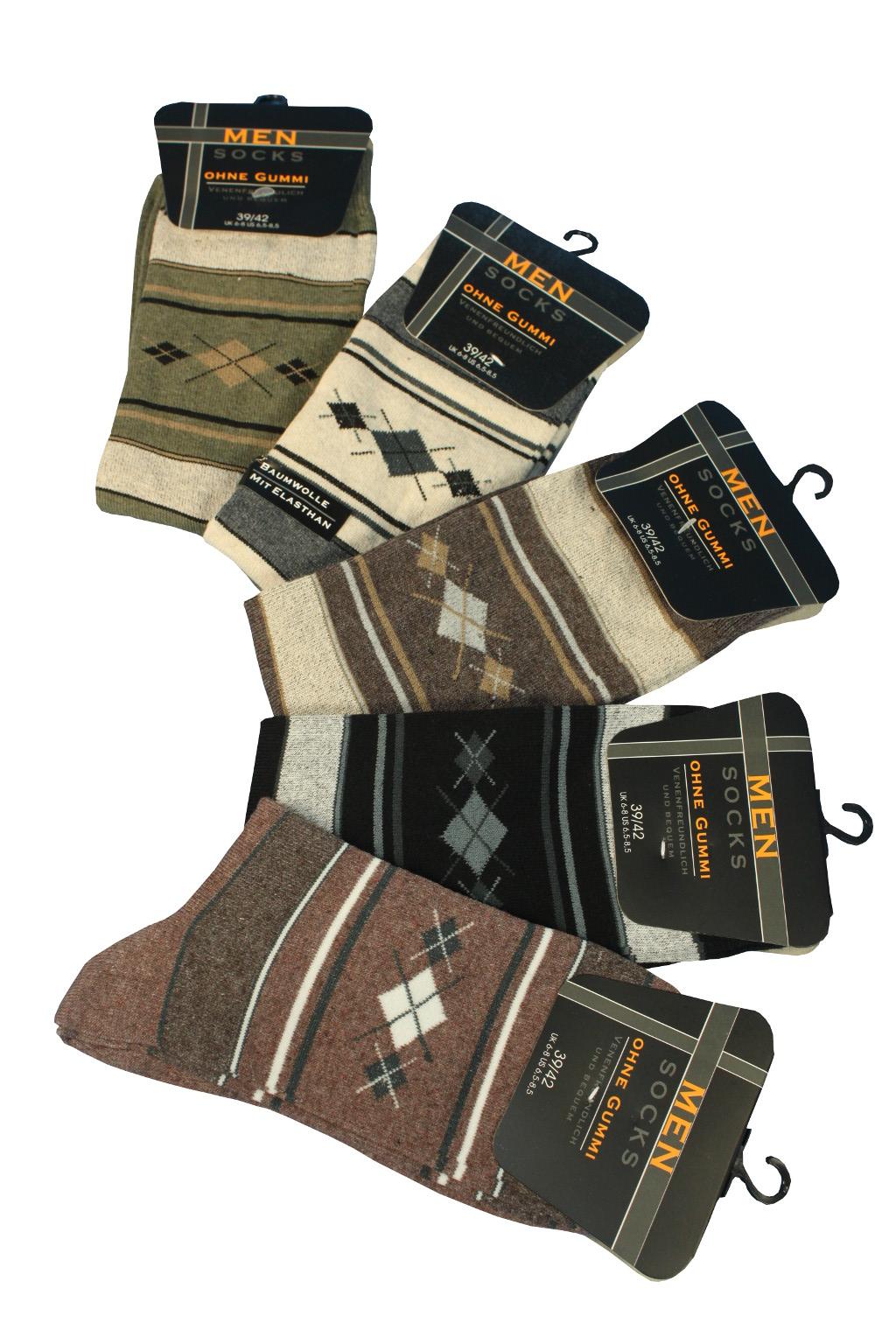 Pánské trendy bavlněné ponožky - 5 párů 43-46 MIX