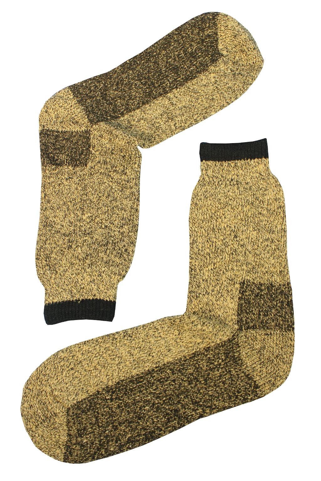 Teplé vlněné ponožky Thermo 43-46 světle hnědá