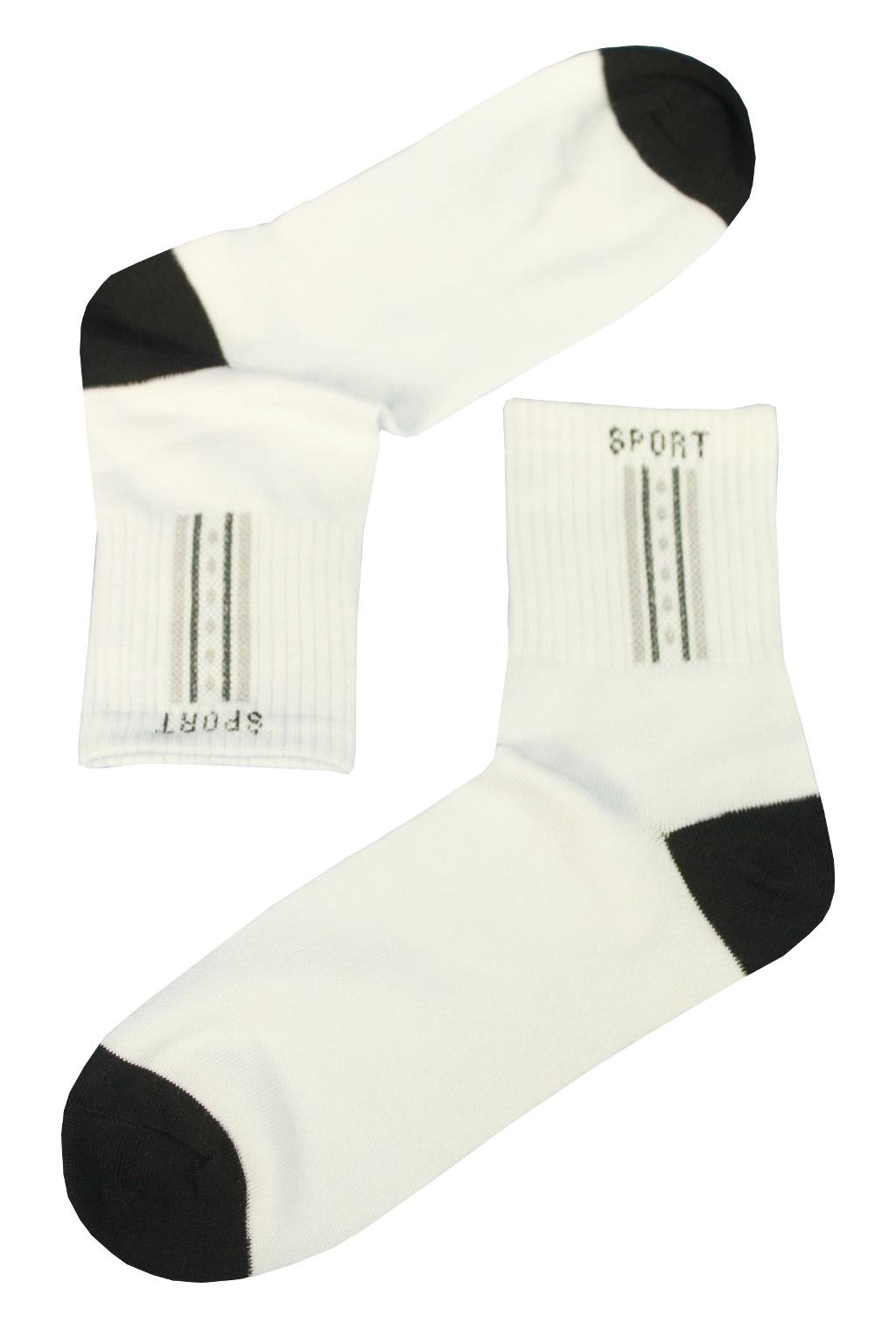 Bavlněné dámské ponožky - 3páry 35-38 bílá 8d0347be68