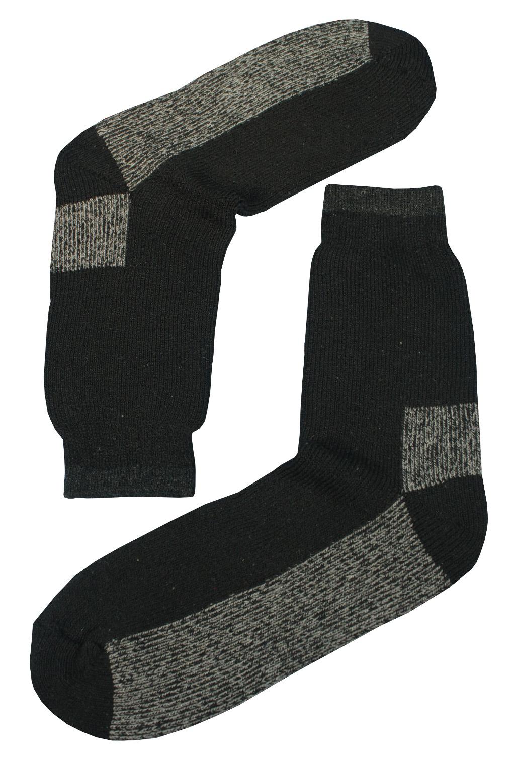 Teplé vlněné ponožky Thermo 39-42 černá